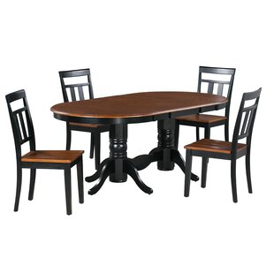 Adonis 5 Piece Extendable Solid Wood Dining Set Alcott Hill