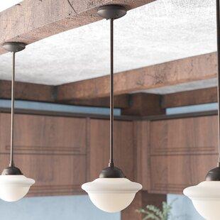 Read Reviews Bruges 1-Light Schoolhouse Pendant By Trent Austin Design