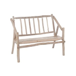 Bayberry Wood Bench by Rosecliff Heights