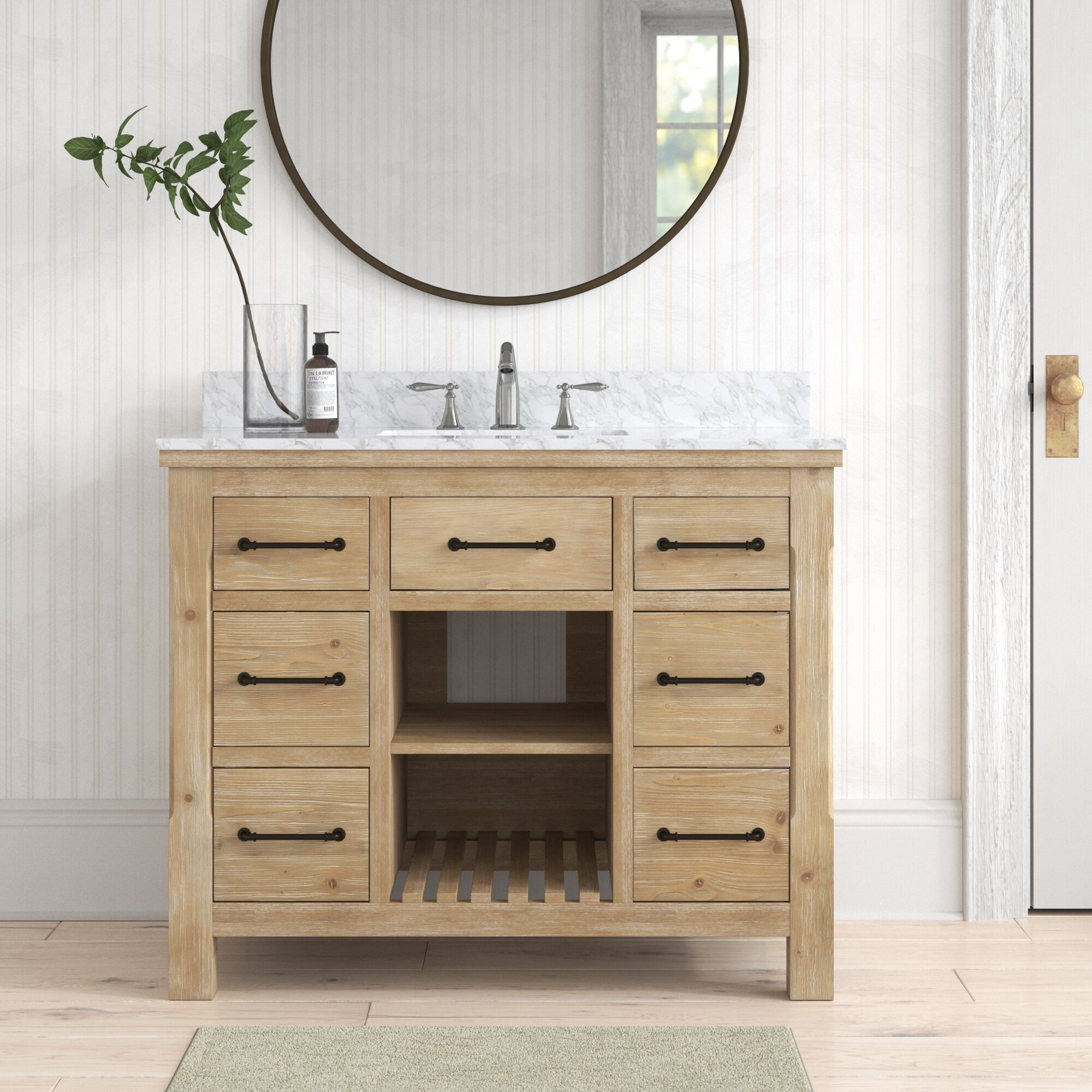 Birch Lane Eaddy 42 Single Bathroom Vanity Set Reviews Wayfair