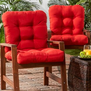 Sarver Synthetic Indoor/Outdoor Dining Chair Cushion (Set of 2)