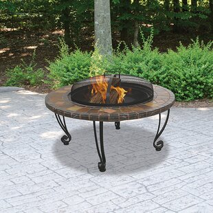 Uniflame Wrought iron Wood Burning Fire Pit Table