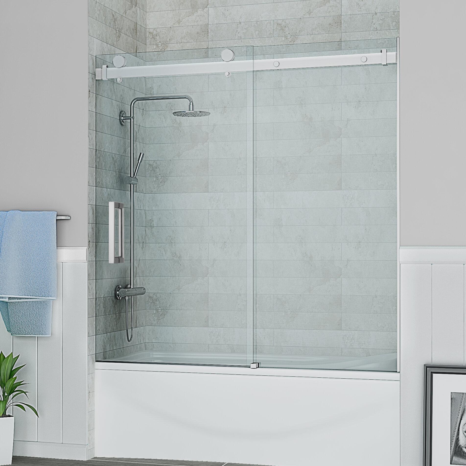 Ove Decors Sierra 59 X 59 Single Sliding Tub Door Reviews Wayfair