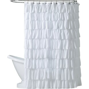 Orona Ruffle Single Shower Curtain