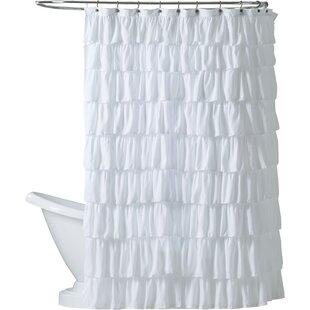 Orona Ruffle Single Shower Curtain