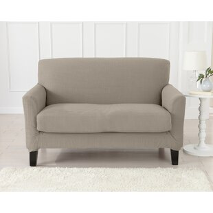 Strapless Popcorn Plush Box Cushion Loveseat Slipcover