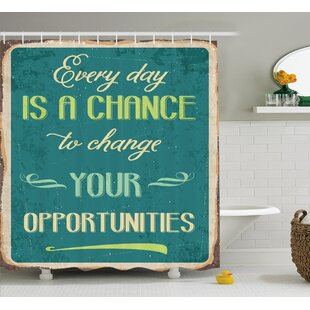 Quote Motivational Retro Poster Single Shower Curtain