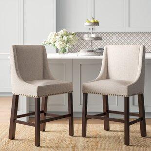Brilliant Elmer 24 Bar Stool Set Of 2 Customarchery Wood Chair Design Ideas Customarcherynet