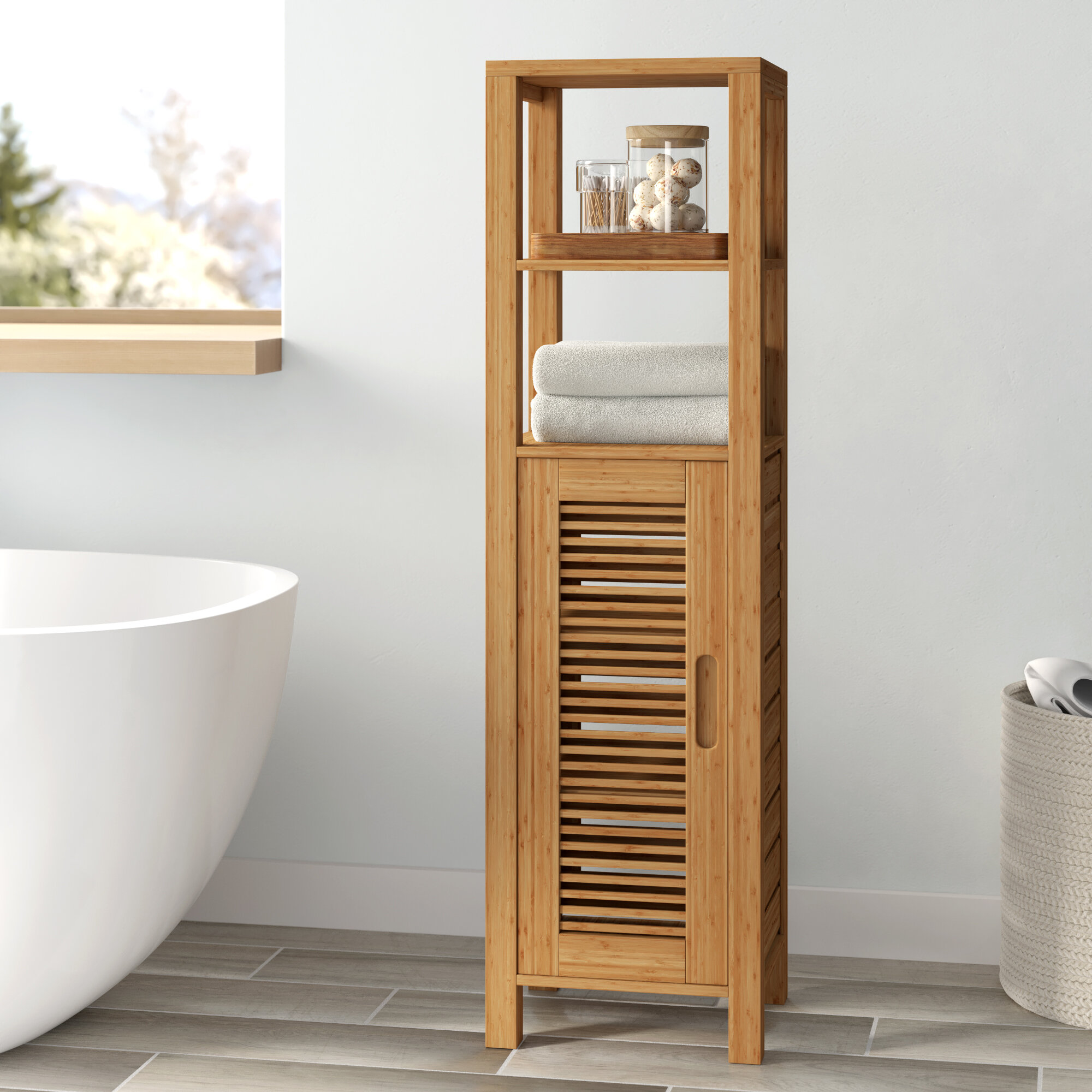 Wayfair Solid Wood Bathroom Cabinets Shelving You Ll Love In 2021