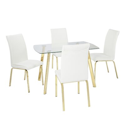 Wrought Studio Leia 5 Piece Dining Set