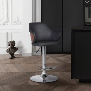 Adelbert Adjustable Height Swivel Bar Stool Wrought Studio