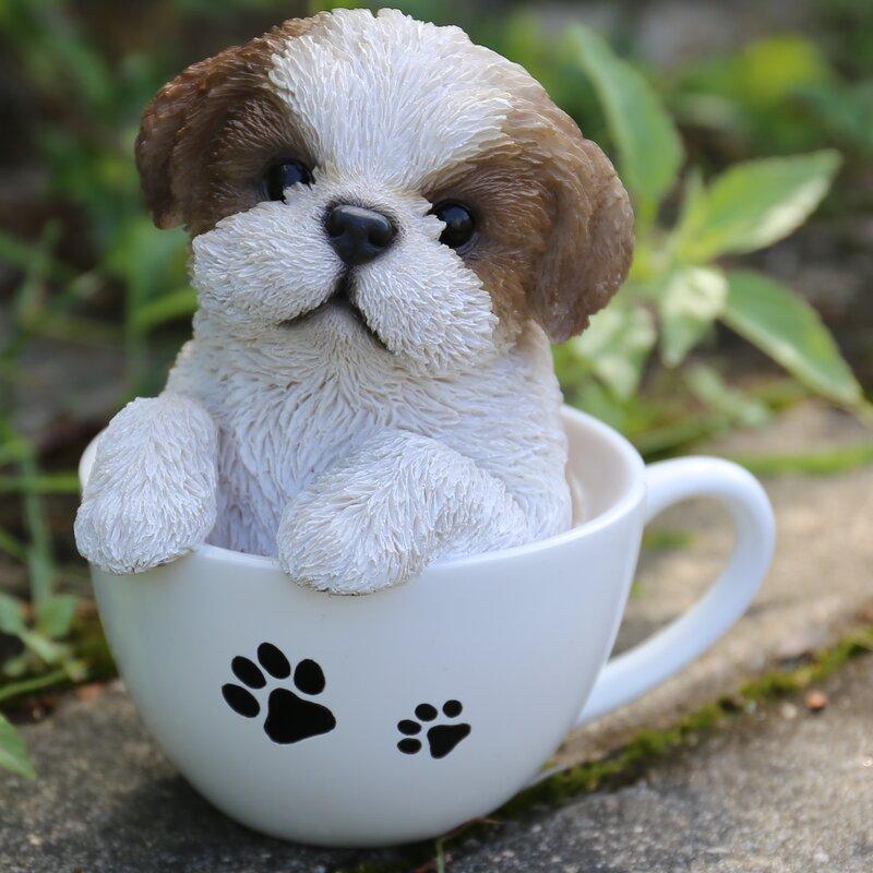 Teacup Shih Tzu Puppy Statue