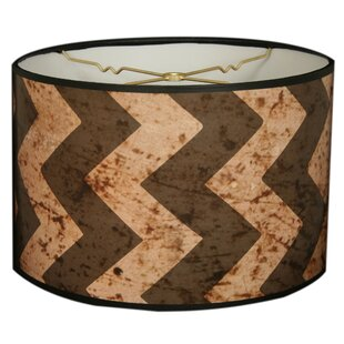 Two-Tone Chevron Designer Hard Back 10 Paper Drum Lamp Shade