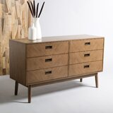 Scharff 6 Drawer Double Dresser by Loon Peak®