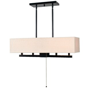 Find for Cloudview 5-Light Kitchen Island Pendant By Loon Peak