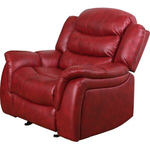 Mager Manual Glider Recliner  sc 1 st  Wayfair : red leather recliner - islam-shia.org