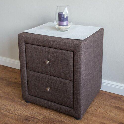 Nachttisch Delorme mit 2 Schubladen | Schlafzimmer > Nachttische | Braun | ModernMoments