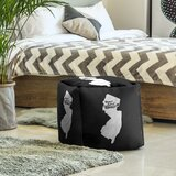Home Sweet Jersey City Cube Ottoman by East Urban Home