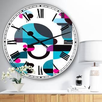 East Urban Home Mansell Wall Clock Wayfair