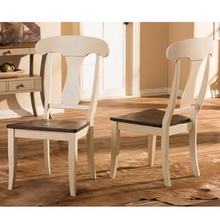 Duncombe Solid Wood Dining Chair (Set of 2) Breakwater Bay