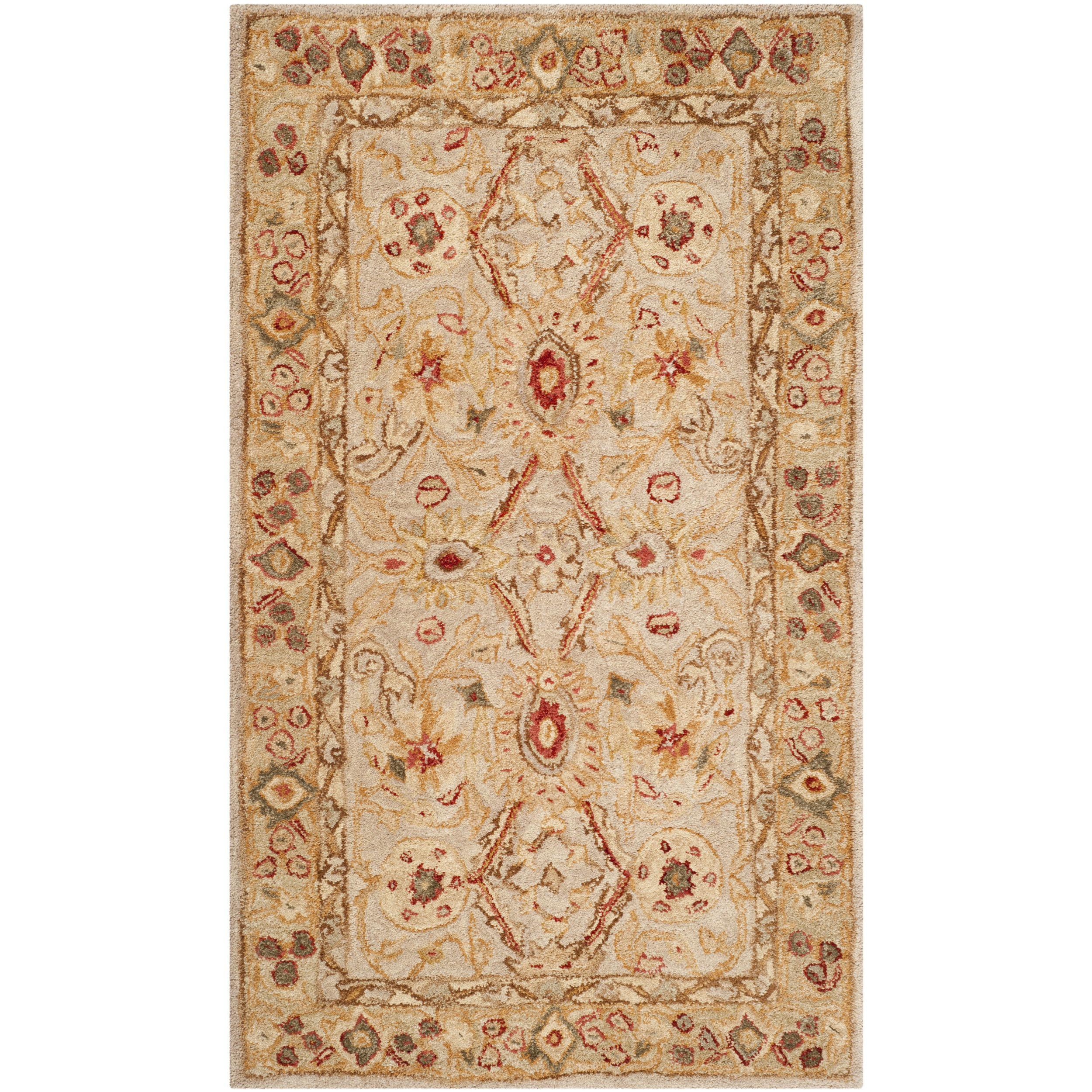 Charlton Home Tingley Floral Hand Tufted Wool Ivory Sage Area Rug Reviews Wayfair