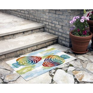 Thurman Rainbow Fish Pearl Doormat by Bay Isle Home