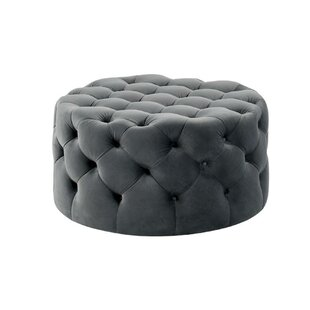 Chipps Traditional Button Tufted Cocktail Ottoman by House of Hampton