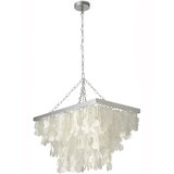 Maryellen 3 - Light Unique / Statement Geometric Chandelier with Seashell Accents