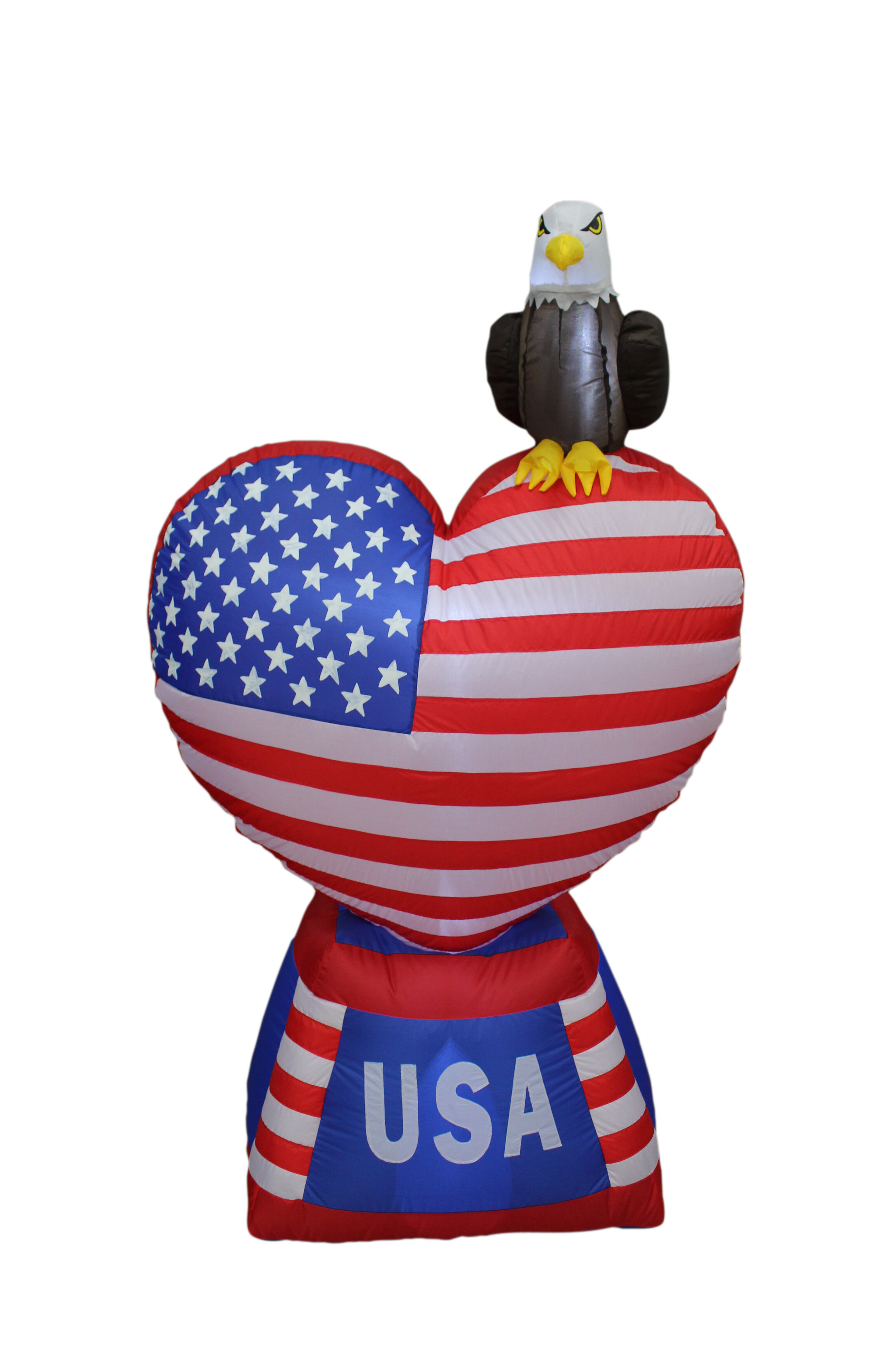 61b22c696035b BZB Goods Patriotic Independence Day Inflatable Heart with American Flag  and Eagle Yard Decoration   Reviews