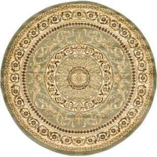 Oskar Light Green Area Rug by Charlton Home