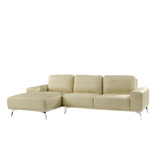 Gayden Leather Sectional by Wrought Studio Savings