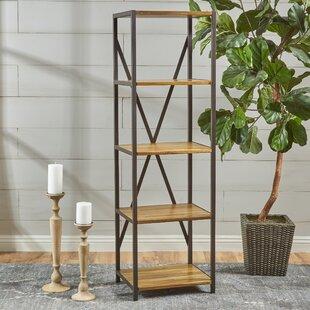 Burville Wood Standard Etagere Bookcase