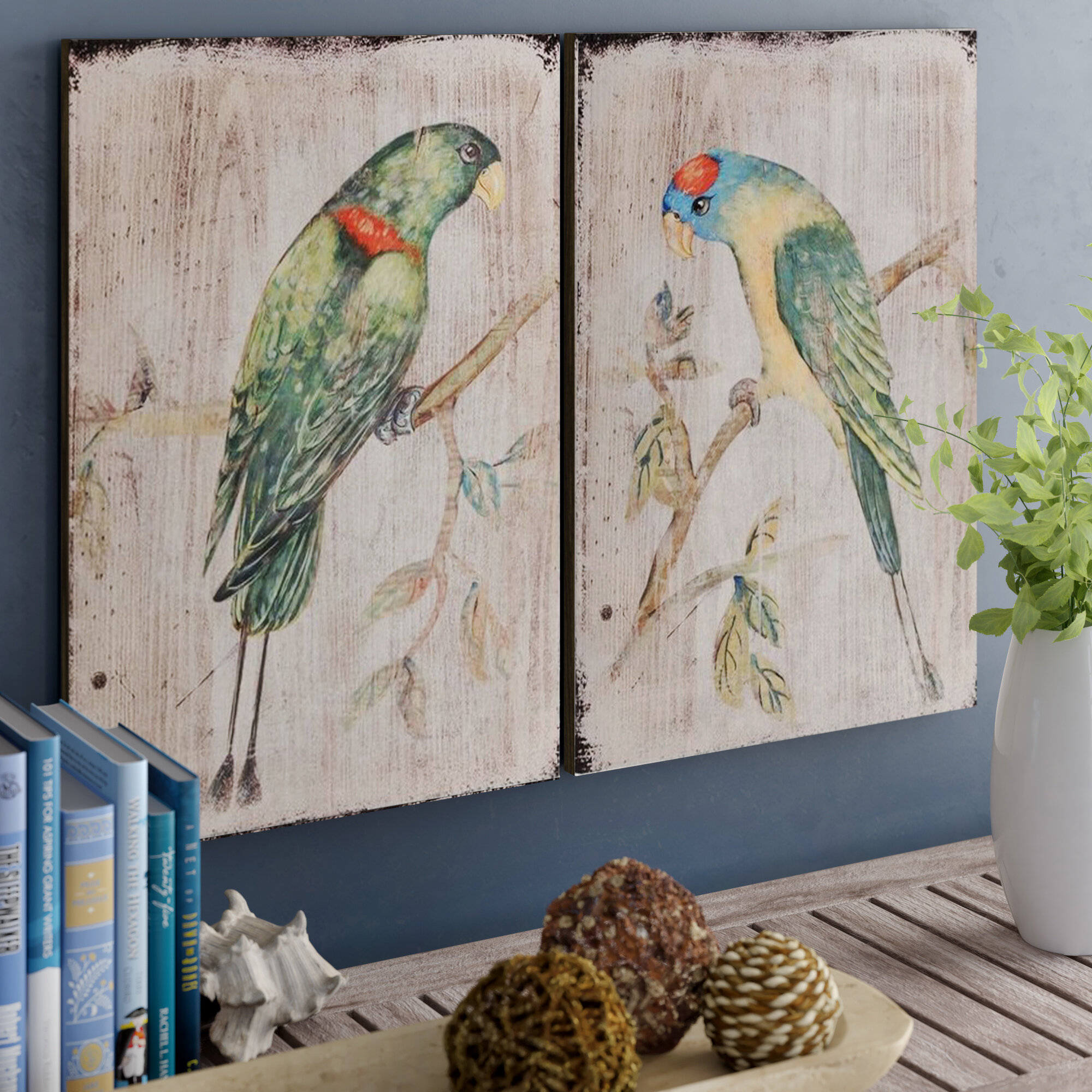Bay Isle Home 2 Piece Parrot Wall Décor