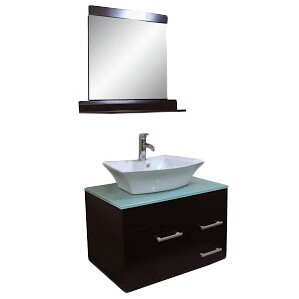 "Kokols 29"" Single Bathroom Vanity Set with Mirror   Wayfair"