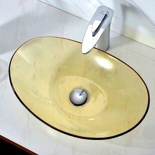 Best Mesto Glass Oval Vessel Bathroom Sink By ANZZI