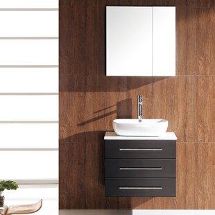 Review Stella 24 Single Modella Modern Bathroom Vanity Set with Mirror by Fresca