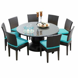 Melendez 9 Piece Dining Set with Cushions
