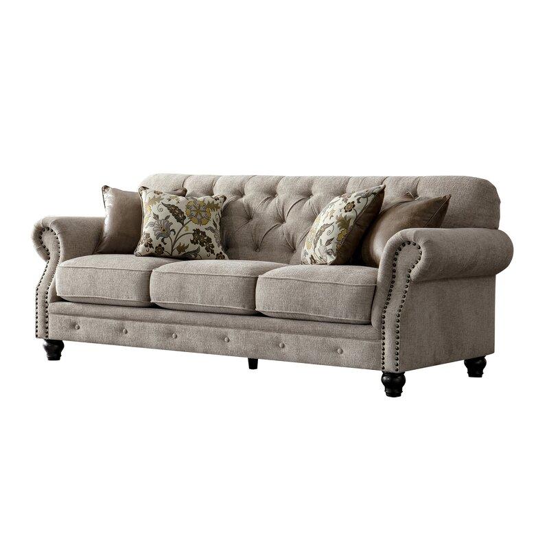 Charlton Home Lathem Chesterfield Couch | Wayfair