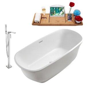 59 x 23 Freestanding Soaking Bathtub By Wildon Home ®