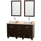 Acclaim 60 Double Bathroom Vanity Set with Mirror by Wyndham Collection