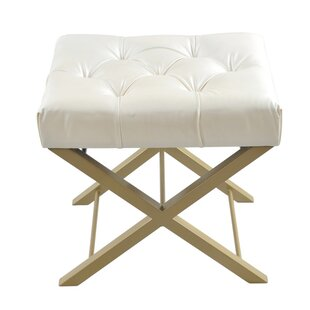 Whalen Bonded Faux Leather Accent Stool by Ebern Designs