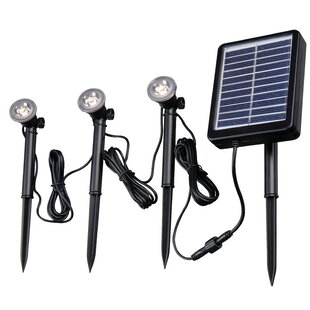 Solar 3 Light LED Pathway Light