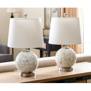 Buy clear Linwood 19 Table Lamp (Set of 2) By Rosecliff Heights