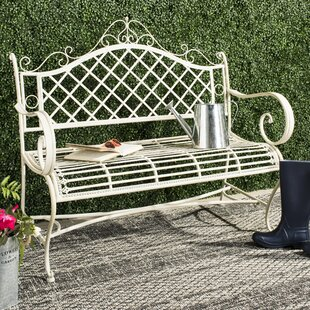 Hornellsville Wrought Iron Garden Bench