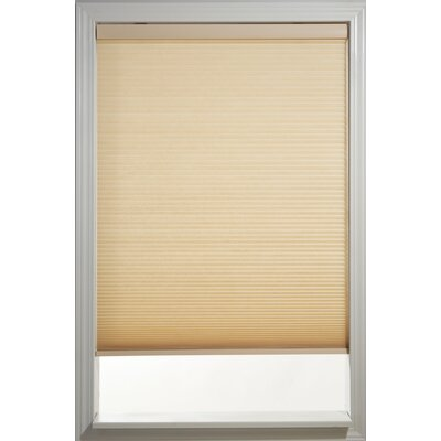 "Cordless Semi-Sheer Cellular Shade Symple Stuff Blind Size: 46"" W x 72"" L, Color: Champagne"