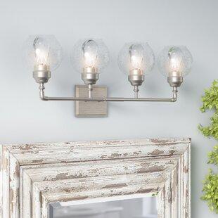 Compare prices Killdeer 4-Light Vanity Light By Laurel Foundry Modern Farmhouse