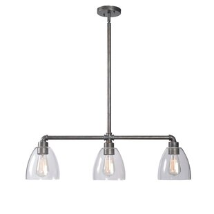 noha pipe 3 light kitchen island pendant kitchen island lighting you u0027ll love   wayfair  rh   wayfair com
