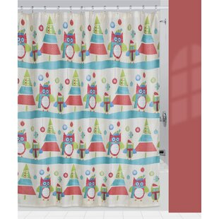 Holiday Owls Single Shower Curtain