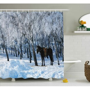Hamilton Winter Forest Theme Shower Curtain