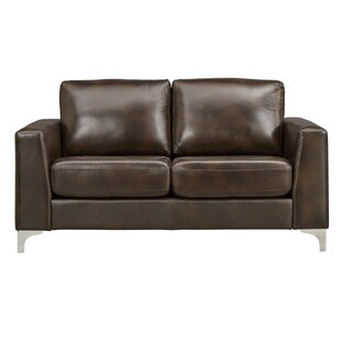 Shupe Leather Loveseat